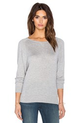 Splendid Cashmere Crew Neck Sweater Gray