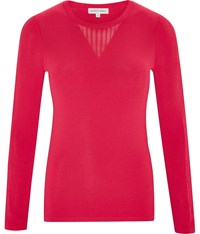Austin Reed Chiffon Panel Jumper Pink