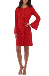 Eci Women's Bell Sleeve Shift Dress
