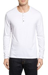 Stone Rose Men's Modal Blend Henley White