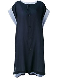 Y's Buttoned Kaftan Dress Blue