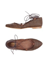 Mtng Ballet Flats Dark Brown
