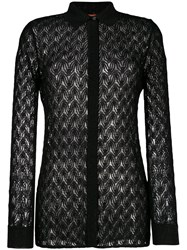 Missoni Sheer Knitted Shirt Black