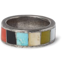 Foundwell Vintage 1970S Multi Stone Sterling Silver Ring Silver
