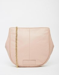 Urbancode Leather Half Moon Bag With Chain Strap Blush
