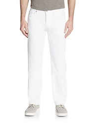7 For All Mankind Standard Straight Leg Jeans Beach White