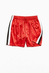 Urban Outfitters Uo Lucien Side Stripe Mesh Short Red