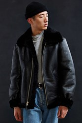 Schott Sheepskin B3 Bomber Jacket Black