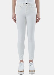 Proenza Schouler High Waist Skinny Jeans White