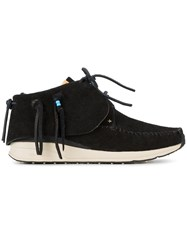 Visvim 'Fbt' Veggie Suede Sneakers Men Leather Suede Rubber 11 Black
