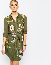 Oasis Opium Visc Print Shirt Dress Multi