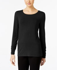 Alfani Long Sleeve Ruched Top Only At Macy's Black