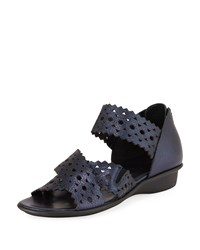 Sesto Meucci Evie Perforated Comfort Sandal Navy