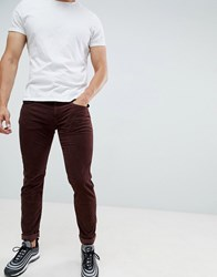 Replay Anbass Slim Stretch Corduroy Jeans Burgundy Red