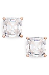 Nordstrom Women's Cubic Zirconia Stud Earrings Clear Rose Gold