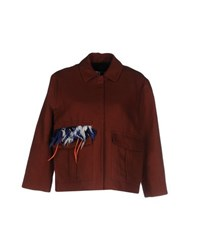 Msgm Suits And Jackets Blazers Women Brown