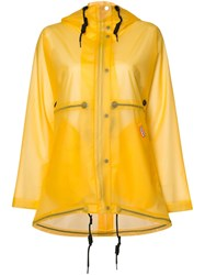 Hunter Vinyl Smock Transparent Coat Yellow And Orange