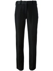 Victoria Beckham Tailored Textured Trousers Black