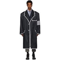 Thom Browne Navy Oversized 4 Bar Coat