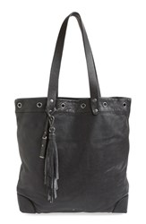Treasure And Bond Grommet Leather Tote Black
