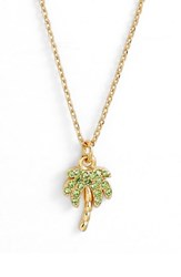 Kate Spade New York California Dreaming Pave Palm Pendant Necklace Multi