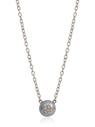 Carolina Bucci Fresh Water Pearl And Diamond Necklace