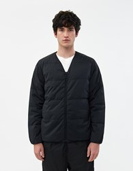 Goldwin Nylon Down Cardigan In Black