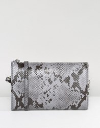 Armani Jeans Faux Snake Minimal Cross Body Bag 00034 Grey