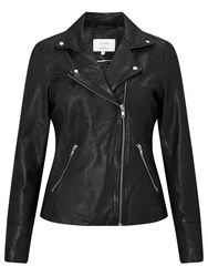 Numph Ermanga Leather Jacket Caviar