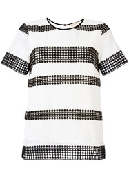 Michael Michael Kors Stripe Panel T Shirt White