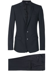 Dolce And Gabbana Classic Suit Men Spandex Elastane Cupro Viscose Virgin Wool 48 Black