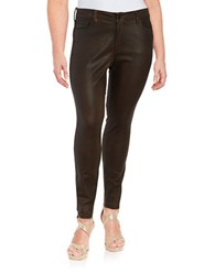 Nydj Plus Alina Faux Leather Jeggings Mahogany