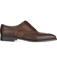 Stemar Leather Oxford Shoes Tan Comb