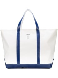 Undercover Logo Tote Bag Unisex Cotton Linen Flax One Size White