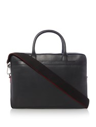 Paul Smith London Leather Portfolio Bag Black