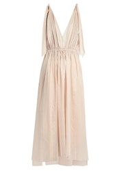 Three Graces London Nikiya Cotton Nightgown Pink