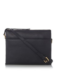 Maison De Nimes Nessa Leather Crossbody Black