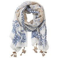 Betty Barclay Printed Scarf Cream Blue