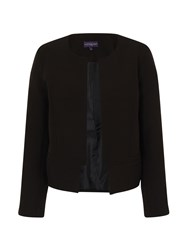 Hotsquash Collarless Jacket In Clever Fabric Black