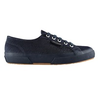 Superga 2750 Flat Lace Up Trainers Navy Pony