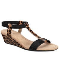 Alfani Women's Voyage Wedge Sandals Only At Macy's Women's Shoes New Leopard