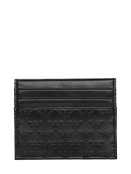 Emporio Armani Logo Printed Leather Credit Card Holder