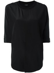 Joseph Layered Back Boxy Blouse Black