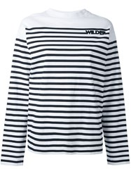 Each X Other 'Wilder' Striped Sweatshirt White