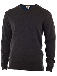 Cutter And Buck Lambswool V Neck Sweater Charcoal