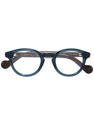 Moncler Eyewear Round Frame Glasses Acetate Green