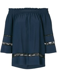 P.A.R.O.S.H. Casual 'Angelica' Blouse Blue