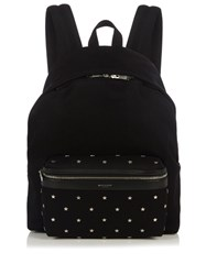 Saint Laurent Metal Star Applique Canvas Backpack Black Multi