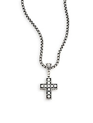 John Hardy Dot Sterling Silver Cross Pendant