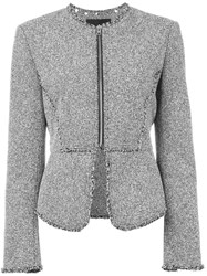 Alexander Wang Tweed Peplum Jacket Black